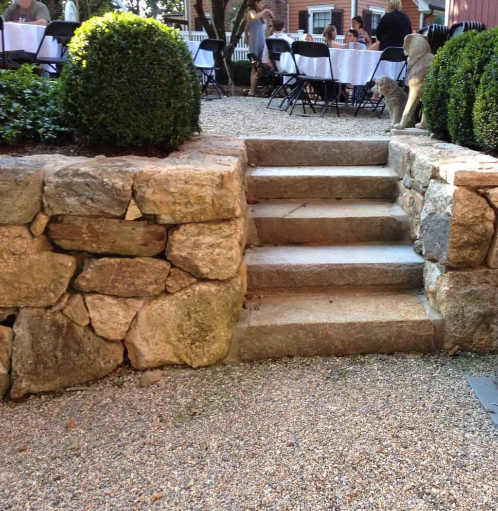 Westchester New York Masonry Large Single Stone Steps Stone Wall-2